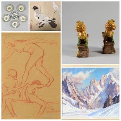 Online Sale - DRAWINGS AND TABLES, RUSSIAN ART, ASIAN ART, EUROPEAN CERAMICS, ART AND FURNITURE OBJECTS