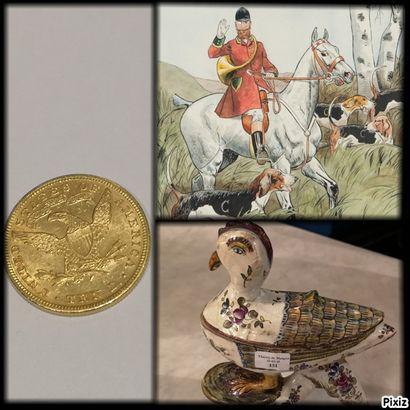 Pièces d'or - Bijoux - Orfèvrerie - Animalier Chasse Vénerie - Mobilier et Objets d'art