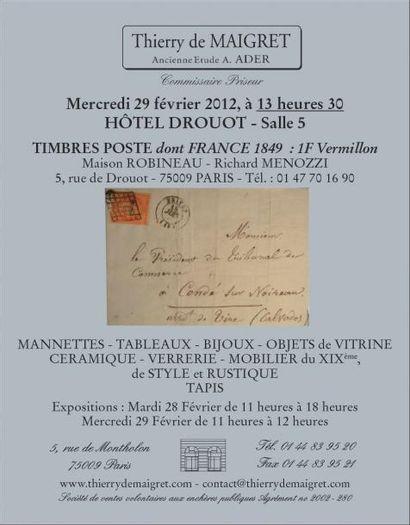 MEUBLES et OBJETS d'ART - TIMBRES