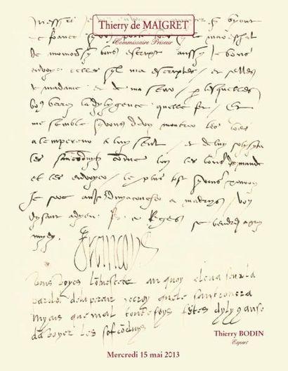 Lettres Manuscrits et Autographes
