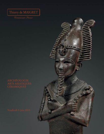 ARTS PRÉCOLOMBIENS – ARTS D'AFRIQUE ET D'OCÉANIE ARCHÉOLOGIE – ARTS ASIATIQUES – CÉRAMIQUES