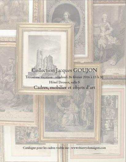 Collection GOUJON - Troisième vacation Cadres - Mobilier et objets d'art