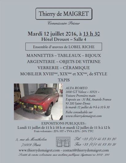 automobiles,jewellery,furnishing, paintings, works of art,ceramics,glassware, stained glass,silver, objects of vertu