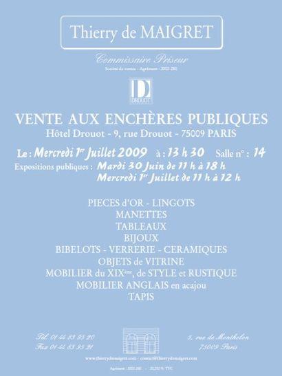 TABLEAUX - MEUBLES & OBJETS D'ART - LINGOTS