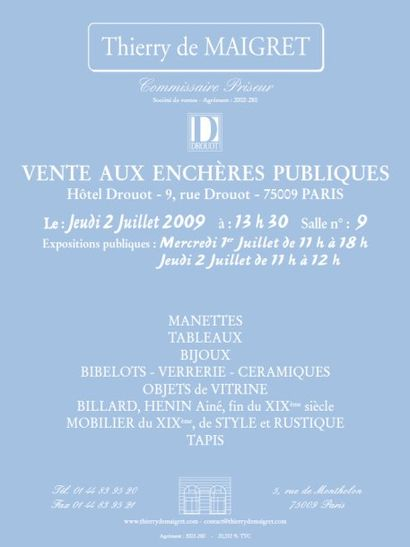 TABLEAUX - MEUBLES & OBJETS D'ART