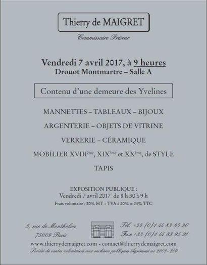 Vente classique : mobilier, objets d'art & Bijoux, Argenterie