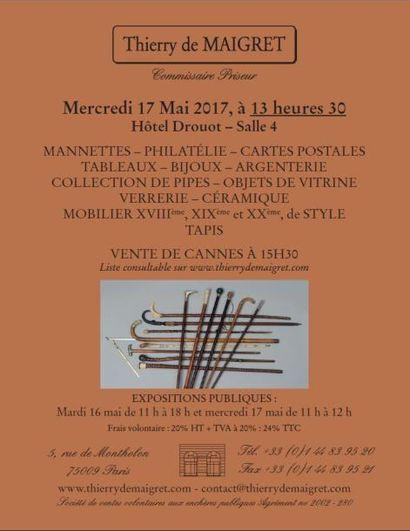 Vente classique - Cannes & Objets de vitrine