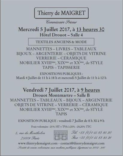 TABLEAUX - Mobilier & Objets d'Art - ASIE - TEXTILES