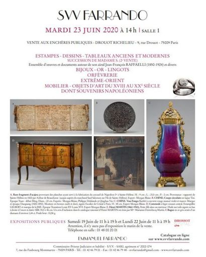 Vente cataloguée Tableaux - Mobilier objets d'art - Bijoux - Argenterie