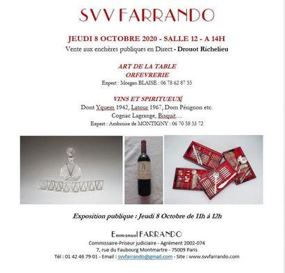ARGENTERIE - ART DE LA TABLE - VINS & ALCOOLS