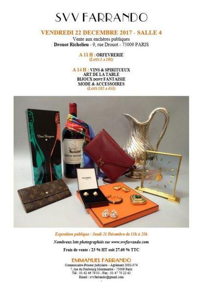 orfèvrerie, arts de la table, bijoux, mode et accessoires, fourrures, vins