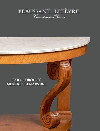 DESSINS et TABLEAUX - CÉRAMIQUE - OBJETS d'ART et de BEL AMEUBLEMENT dont ensemble de mobilier d'époque Charles X