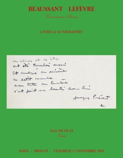 Autographes, manuscrits et livres