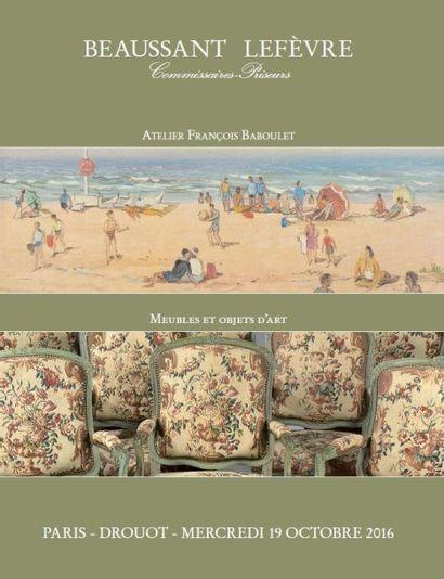 Ensemble de dessins et tableaux provenant de l'atelier de François Baboulet (1914-2010) meubles et objets d'art