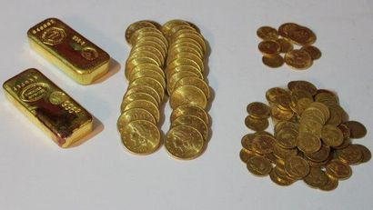 Monnaies et lingots en or