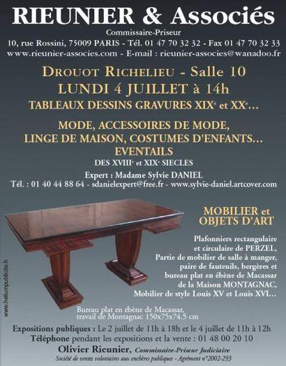 Tableaux, Meubles et objets d'art, grands vins de Bordeaux et de Bourgogne...