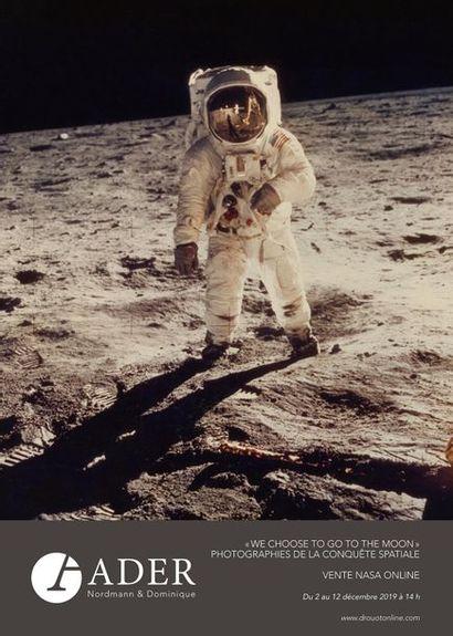 """ADER : Vente NASA Online  - """"We choose to go to the moon"""" - Photographies de la Conquête spatiale (Du lundi 2 au Jeudi 12 décembre à 14h)"""