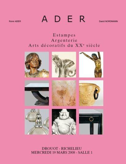 Estampes, Argenterie, Arts décoratifs du XXe siècle