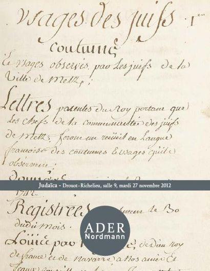 Judaïca et Ecole de Paris