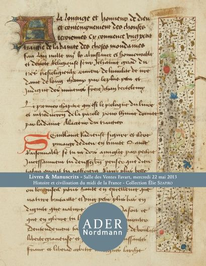 Histoire et civilisation du midi de la France - Collection E. Szapiro - Livres et manuscrits