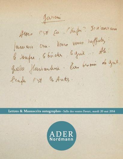 Lettres, Autographes et Manuscrits
