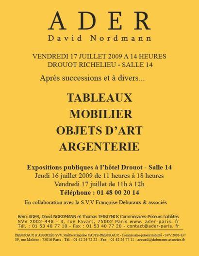 Tableaux - Meubles et Objets d'art (non cataloguée)