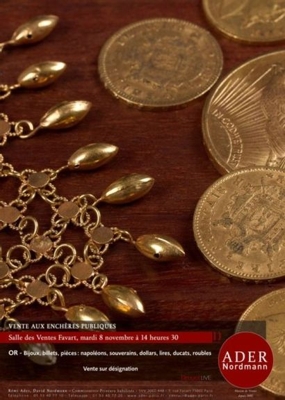 bijoux, billets, monnaies