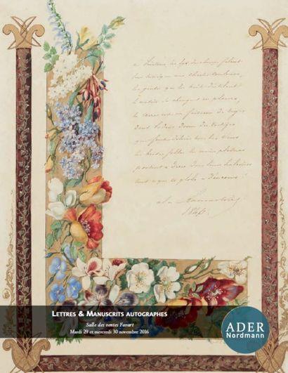 Letttres & manuscrits autographes