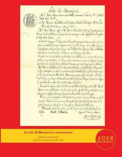 Lettres & Manuscrits Autographes - nos 1 à 404