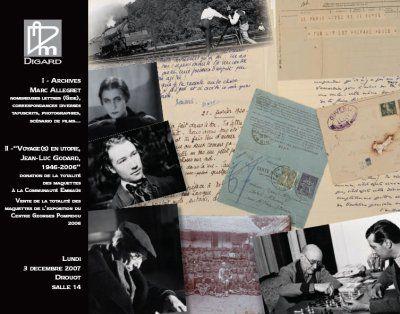 Archives Marc Allegret et Maquettes Jean-Luc Godard