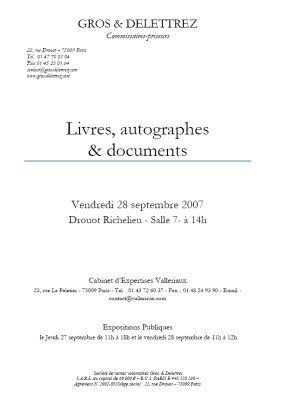 Livres, autographes & documents