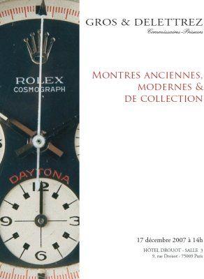 Montres anciennes, modernes et de collection