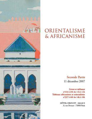 ORIENTALISME & AFRICANISME - partie2
