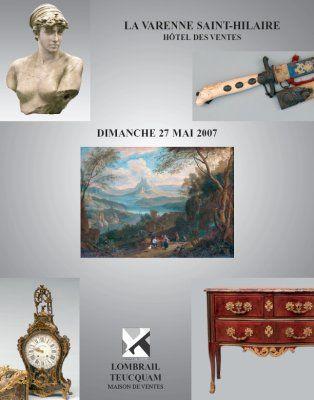 TABLEAUX ANCIENS, et XIXe siècle MOBILIER XVIIe, XVIIIe et XIXe siècle