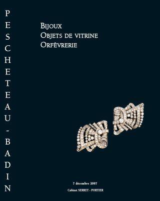 Bijoux, objets de vitrine, orfèvrerie et argenterie