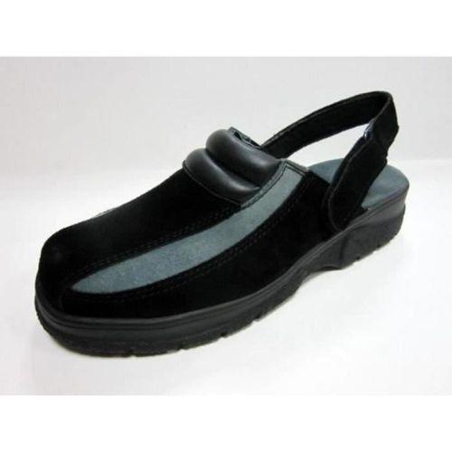 HTC Chaussures Clack Nubuck avec maintien arrière Noir et gris Taille 47 [65] 35…