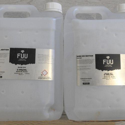 54 FUU Lot de 2 Bidons de 5L de Base PG/GV sans Nicotine pour Cigarette Electron…