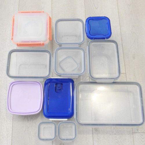 16 IKEA DURALEX Lot de 12 boites de conservation en verre et plastique rectangul…