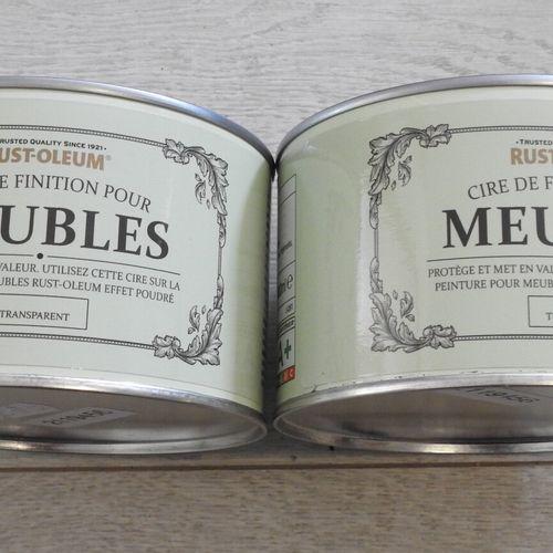 94 RUST OLEUM Lot de 2 Pots de 400ml de Cire de Finition Transparent pour Meuble…