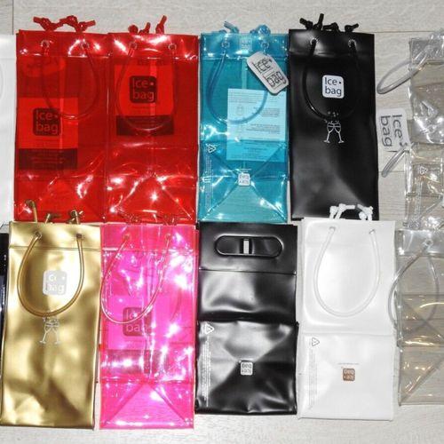 24 ICE BAG Lot de 12 sacs à glace en PVC différents coloris Produit Neuf