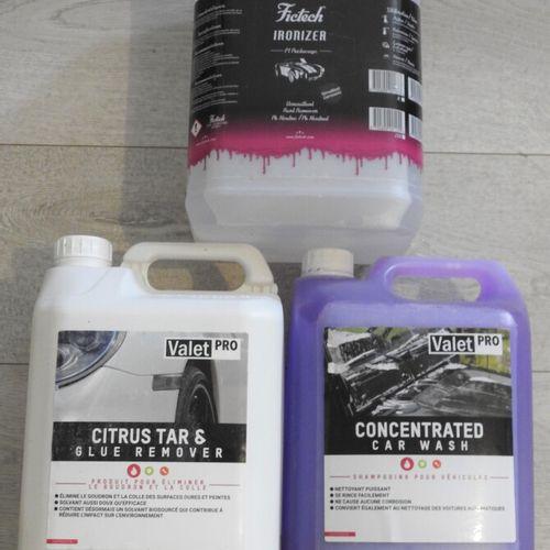 53 VALET PRO FICTECH Lot de 3 produits pour entretien de vehicule Shampooing Con…
