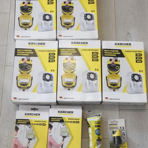 106 KARCHER Lot de 9 pièces 5x 4 Sacs aspirateur sachet filtre WD4 WD5 WD6, 2x R…