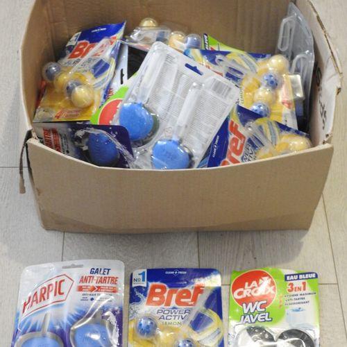 58 HARPIC LA CROIX BREF Lot de 25 produits pour WC 16x Galets Hygiène Anti Tartr…