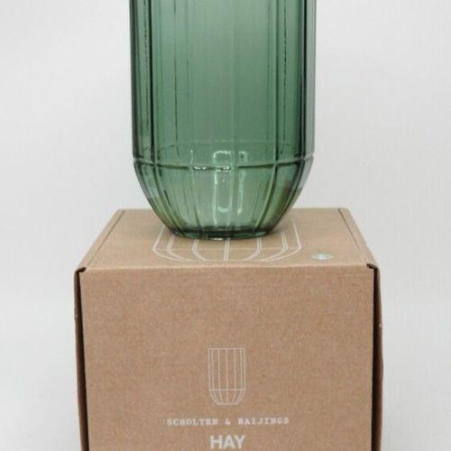 31 HAY Vase en verre de Scholten & Baijings taille M Hauteur 18,5 cm Diametre 9,…