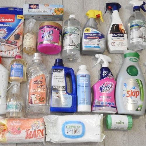 56 SKIP VANISH LA CROIX Lot de 20 produits ménagers 1x Lessive Liquide, 2x Netto…