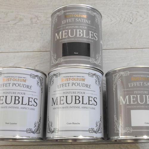 95 RUST OLEUM Lot de 4 Pots de Peinture pour Meubles 2x Peinture pour meubles Cr…