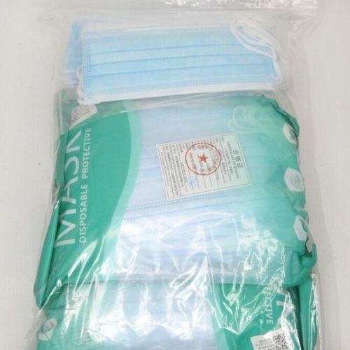 79 Lot de 200 Masques Chirurgicaux 3 Plis Bleu Produit Neuf