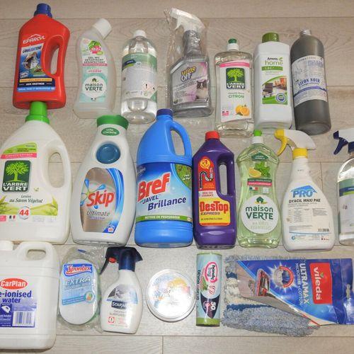 57 SKIP DESTOP EPARCYL Lot de 20 produits menagers 2x Lessive Liquide, 2x Liquid…