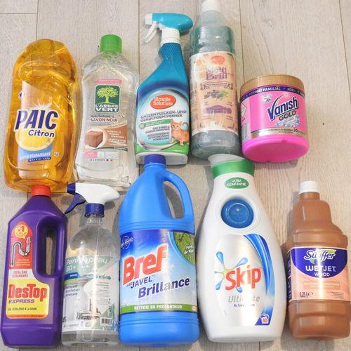 55 DESTOP PAIC VANISH Lot de 10 produits ménagers 1x Liquide Vaisselle, 1x Détac…