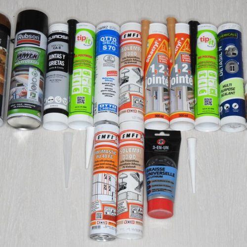 69 SIKA RUBSON SOPPEC Lot de 14 pièces Bricolage Mastic silicone acrylique joint…